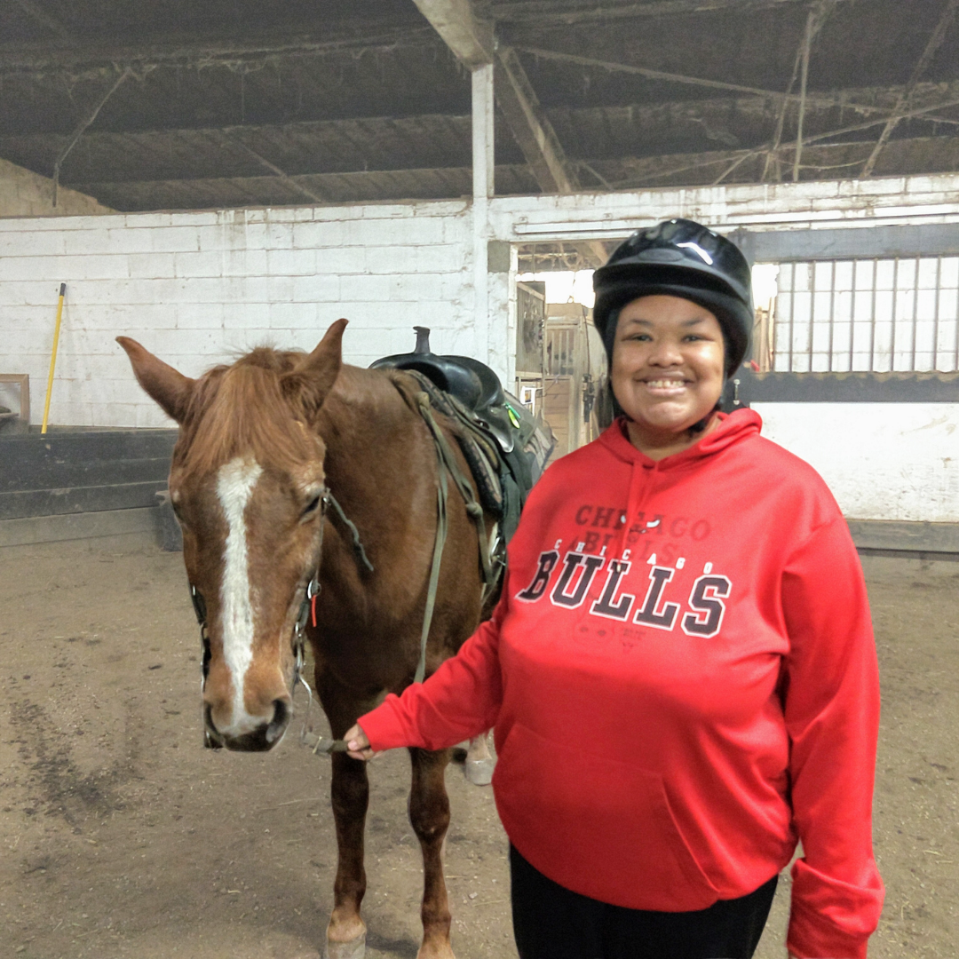 Envision member with horse